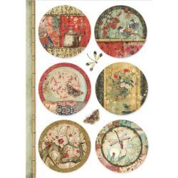 Rizspapír A4 - Oriental spheres