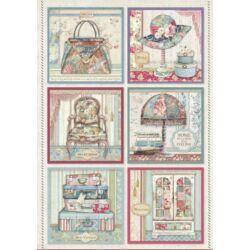 Rizspapír A4 - Cards Grand Hotel