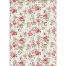 Rizspapír A4 - Texture big roses