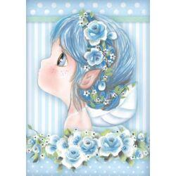 Rizspapír A4 - Light blue fairy