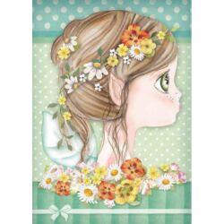 Rizspapír A4 - Daisy fairy