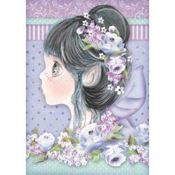 Rizspapír A4 - Lilac fairy