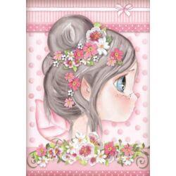 Rizspapír A4 - Pink fairy