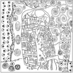 Sziluett rizspapír szalvéta - Klimt