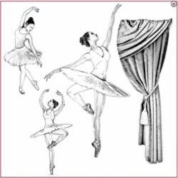 Sziluett rizspapír szalvéta - Balett
