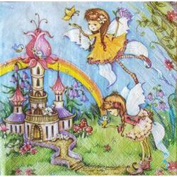 szalvéta - Varázslatos tündérek és kastély