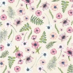 Koktél szalvéta - Virágfejek