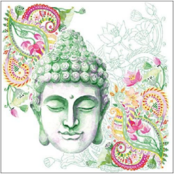 Szalvéta - Buddha fej