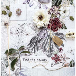 Szalvéta - Virág dekorációk