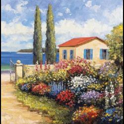 Szalvéta - Virágos kert a tenger mellett