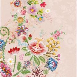 Koktél szalvéta - Hímzett virágok