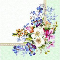 Szalvéta - Virág dekoráció