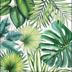 Koktél szalvéta - Trópusi levelek