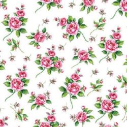 Koktél szalvéta - Apró rózsás