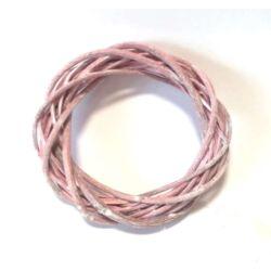 Vessző  koszorú pink színű 15cm