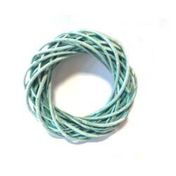Vessző  koszorú zöld színű 20cm