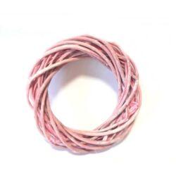 Vessző  koszorú pink színű 20cm