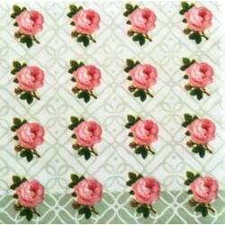 Szalvéta - Apró rózsa sorminta
