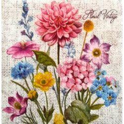 Szalvéta -vintage virágok