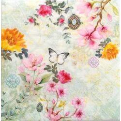 Szalvéta - Virágos romantika