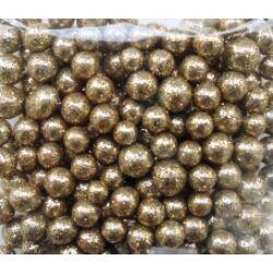 Glitteres golyócskák arany