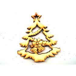 Karácsonyfa harangokkal fafigura