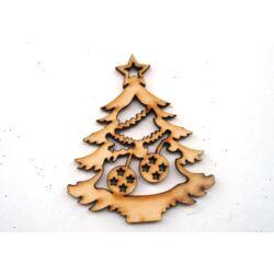 Karácsonyfa gömbökkel fafigura