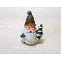 Karácsonyi figura_mikulás fenyőfával