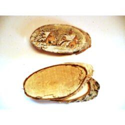Nyírfa szelet ovális kicsi