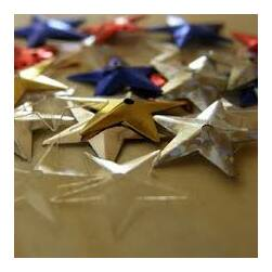 Flitter - csillag alakú - 5 gramm