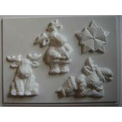 Gipszkiöntő - karácsonyi rénszarvas