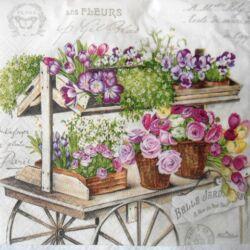AKCIÓS - virágos taliga