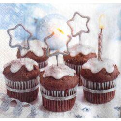 Szalvéta - karácsonyi muffin