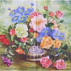 AKCIÓS szalvéta - virág