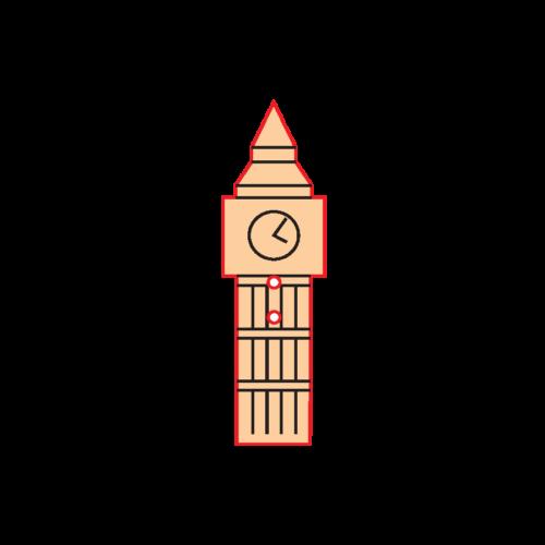 2c97e6d52672 Mini Gomb Fafigura - Big Ben - Szinezhető fafigurák - Kreativ Hobby ...