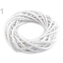 Vessző koszorú fehér 25cm