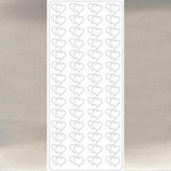 Kontúrmatrica:Dupla szív ezüst