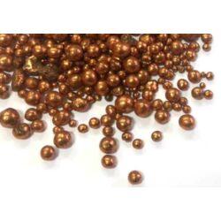 Mini glitteres golyócskák, bronz