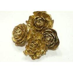 Metál tobozrózsa, arany
