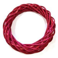 Vessző  koszorú pink színű 25cm