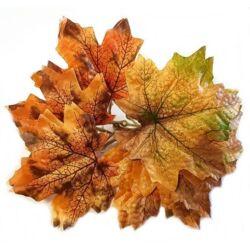 Őszi falevelek, dupla - sárga-barna