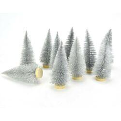 Fenyőfa ezüst glitteres 4cm, 1db