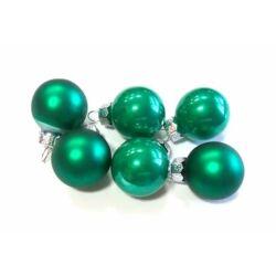 Üveggömb szett  2,5cm smaragdzöld