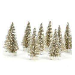 Fenyőfa arany glitteres 6cm