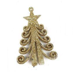 Csillámos karácsonyfa, arany