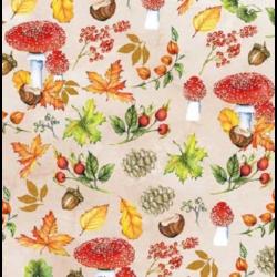 Koktél szalvéta - Őszi levelek és gombák