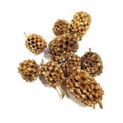 Casurina termés metál arany