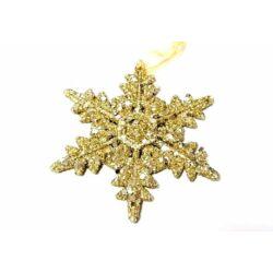 Glitteres hópihe akasztós 12 cm, arany