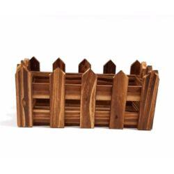 Fa kerítéses ládika tégla kicsi barna