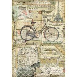 Rizspapír A4 - Bicikli